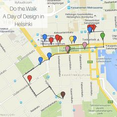 Do the Walk- A Day of #Design in #Helsinki with a #map - lilyffoundit.com Helsinki, Ecommerce Hosting, Map, Travel, Design, Viajes, Location Map, Destinations, Maps