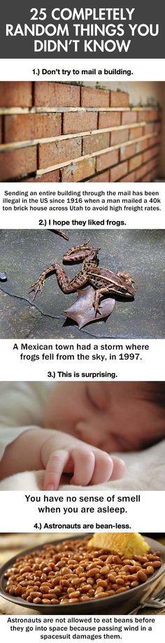 Random Things You Didn't Know
