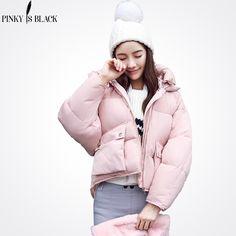 Pinky Is Black 2017 winter jacket women camouflage bread jacket parkas big pockets falling shoulder winter coat women outwear #Affiliate