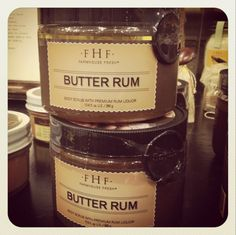"""""""A little Rum exfoliation and you're good to glow!""""  Try this luscious Butter Rum Scrub from Farmhouse Fresh!"""