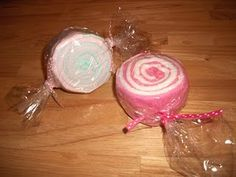 "Washcloth ""Candy"" Rolls - Great baby shower gift or decoration"