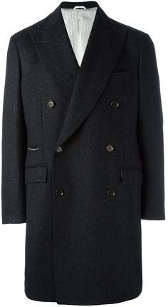 Al Duca D'Aosta 1902 buttoned double breasted coat Mens Overcoat, Double Breasted Coat, Suit Jacket, Stylish, Polyvore, Jackets, Tops, Fashion, Moda