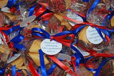 High School Graduation Centerpieces | chocolate dipped fortune cookie graduation party favors University of ...