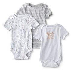 Circo® Newborn 3 Pack Short-sleeve Fox Bodysuit