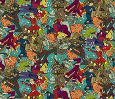 comic chaos fabric by scrummy on Spoonflower - custom fabric