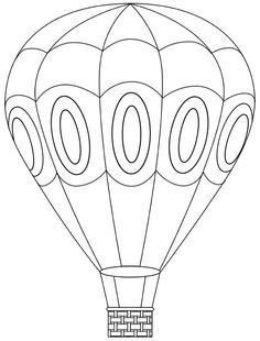 hot air balloon printable template | Free Digital Hot Air Balloon ...