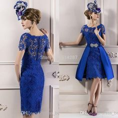 37a3abd4595e dress daughter Picture - More Detailed Picture about Custom Made Gorgeous  2016 Fashion Royal Blue Lace Mother Of The Bride Dresses Removable Skirt  Women ...