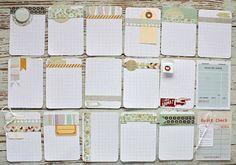 Premade journalling cards. Love!
