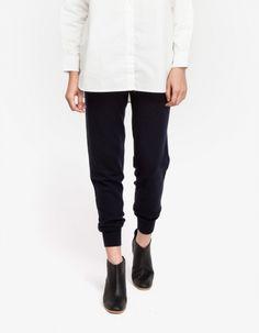 slouchy wool pants