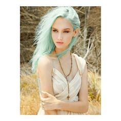 40 Chicks With Cool Mint Dyed Hair ❤ liked on Polyvore featuring hair