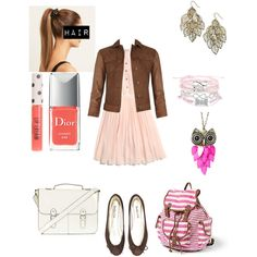 """""""Studying in the courtyard"""" by dipdyedfan on Polyvore"""