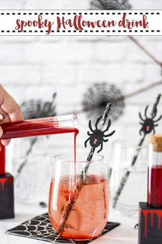 Create spooky Halloween beverages in seconds with this simple recipe from Everyday Party Magazine! @MarthaStewart #MarthaStewartHalloween #MarthaStewart #Drinks #Halloween