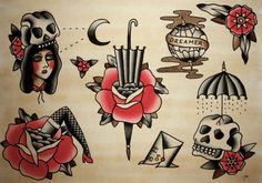 might make a cool design style. Traditional Tattoos, American Traditional, Tattoo Flash, Various Artists, Magazine Design, Dark Art, Cool Designs, Cute, Style