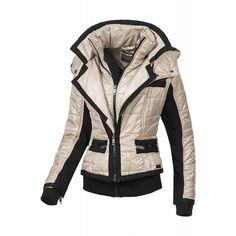 Geaca Dama STITCH&SOUL Freja Hooded Jacket, Leather Jacket, Athletic, Stitch, Jackets, Fashion, Jacket With Hoodie, Studded Leather Jacket, Down Jackets