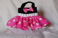 Pink Minnie Mouse Tote Bag by WhitneyBoutique on Etsy