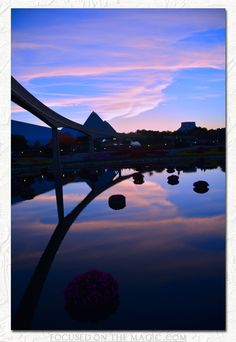 Epcot's Blue Skies at Night.  Focused on the Magic Wordless Wednesday Theme: Favorite Views.  #Disney #Photography