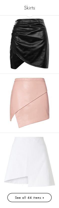 """Skirts"" by mimzyel on Polyvore featuring skirts, mini skirts, bottoms, midi circle skirt, faux leather pleated skirt, faux-leather midi skirts, mini skirt, pleated skirt, zipper mini skirt and pink skirt"