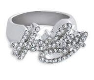 Harley-Davidson®  Women's Rhinestone Harely Ring. 99428-12VW