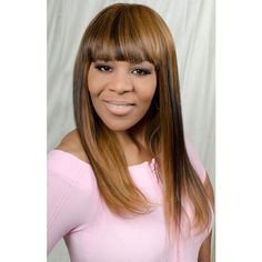 Brandy Wig – LE'HOST HAIR  18″/20″, multi colour, long & straight, Chinese bang, closure top