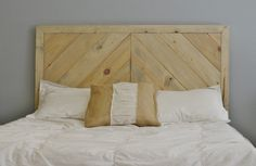 Chevron Wood Headboard by KnotsandBiscuits on Etsy