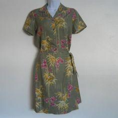 Tommy Bahama Green Silk Tie Skirt and Top Set Sz XS-S $24.37 free ship #guysbizgiftworld