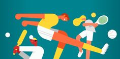 Google Fit website header illustrations – Illustration by Google