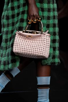 Fendi Spring 2020 Fashion Show Details. All the fashion runway close-up details, shows, and handbags from the Fendi Spring 2020 Fashion Show Details. Popular Handbags, Cute Handbags, Best Handbags, Cheap Handbags, Fashion Handbags, Purses And Handbags, Leather Handbags, Luxury Handbags, Leather Bags