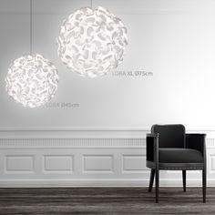 Vita Living Lora Ceiling Pendant/Lamp Shade White 75cm