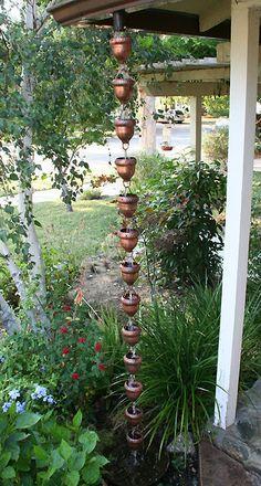 Acorn Copper Cup Rain Chain & Rain chain. Itu0027s just like a drain pipe but much prettier. They even ...