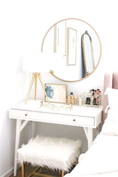Bedroom Makeover Reveal Money Can Buy Lipstick - # Can . - Bedroom Makeover Reveal Money Can Buy Lipstick - Bedroom Apartment, Home Bedroom, Trendy Bedroom, Mirror Bedroom, Bedroom Furniture, Bedroom Decor For Small Rooms, Cheap Bedroom Decor, Bedroom Girls, Furniture Dolly