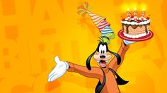 Do you have a pal that you can depend on through thick or thin? One that makes you laugh so hard that your sides ache? In fact, we all have that kind of pal in Goofy! Though he doesn't show his age, our fast friend marks his anniversary this Blog Wallpaper, Computer Wallpaper, Disney Wallpaper, Cartoon Wallpaper, Goofy Pictures, Disney Pictures, Goofy Pics, Goofy Disney, Walt Disney