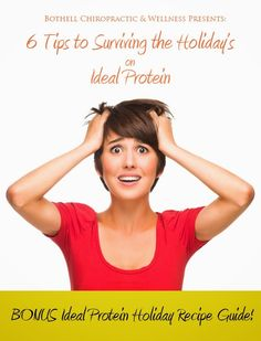 Six Tips to Surviving the Holiday\u2019s on Ideal Protein! Need guidance while trying to stay on the Ideal Protein protocol? Check out these six tips and our FREE Ideal Protein Holiday Recipe Guide. #idealprotein #diet #holidays #christmas #bothell #washington #weightloss
