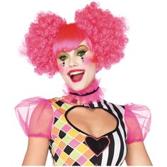 Pink Harlequin Wig on Amazon $18.26