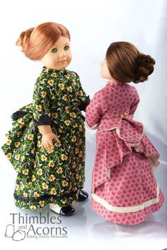 Thimbles and Acorns Sweet Sashay Overskirt Doll Clothes Pattern 18 inch American Girl Dolls | Pixie Faire