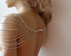 Pearl and Rhinestone Jewelry Wedding Dress Shoulder by ADbrdal
