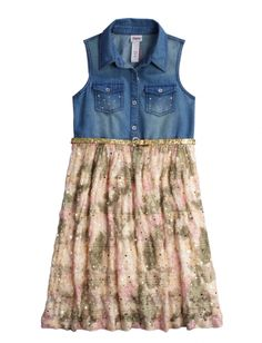 A mixed materials Dress from Justice is an adorable addition to your daughter's wardrobe
