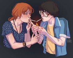 """Vamos Dividir Um Cigarrinho"" #IT #BeverlyMarsh #RichieTozier"