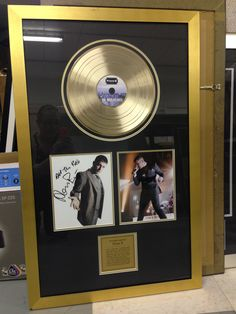 This signed Plan B gold album looks great with this gold frame! Doncha think?