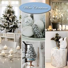 """Gorgeous white Christmas decor ideas! (from """"Dreaming of a White Christmas"""") #holiday #decorations #ideas #beautiful"""