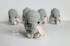 Amigurumi Baby Elephant ( 9cm tall) - Free Crochet Pattern - Available in English and German here: http://luiluh-handmade.de/luiluh-baby-elephant/