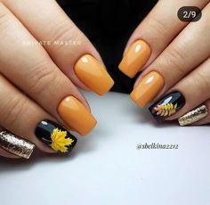 Daisy Nail Art, Daisy Nails, Pink Nail Art, Yellow Nails, Pink Nails, Autumn Nails, Fall Nail Art, Winter Nails, Gorgeous Nails