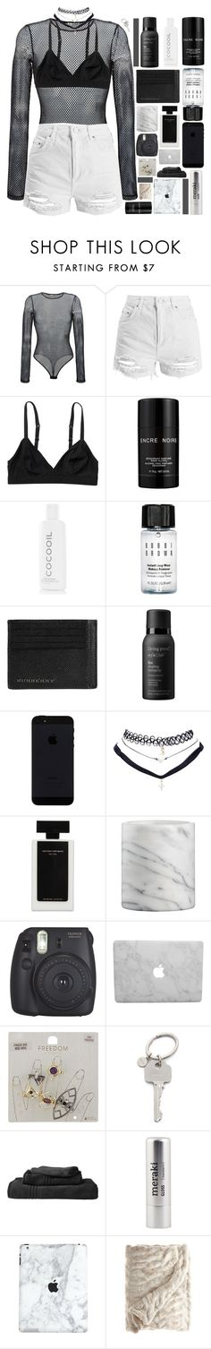 """""""panda panda panda."""" by dont-go-to-sleep ❤ liked on Polyvore featuring Faith Connexion, Topshop, Monki, Lalique, CocoOil, Bobbi Brown Cosmetics, Burberry, Living Proof, Wet Seal and Narciso Rodriguez"""