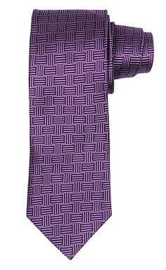 Purple Tie with Basketweave Pattern
