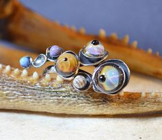 Caviar Eye Ring Made With Handmade Glass by dolldisasterdesign