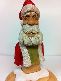 Mike Pounders Wood Carving: Another Santa finished