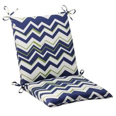 Pillow Perfect IndoorOutdoor Tempo Squared Chair Cushion Navy * View the item in details by clicking the image Outdoor Cushions, Chair Cushions, Buy Pillows, Amazon Associates, Perfect Pillow, Chair Pads, Slipcovers, Indoor Outdoor, Navy