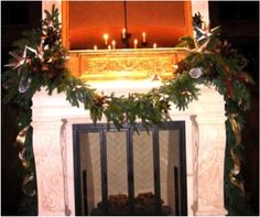Add starbursts to your mantel garland for a fun classy look-- www.aspenbranch.com