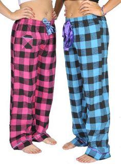 Alki'i 2-pack Women's Flannel Pajama Pants set with satin detail Alki'i. $22.99