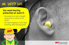 #MrSafetySays… Do you know when you should use ear protection at work?