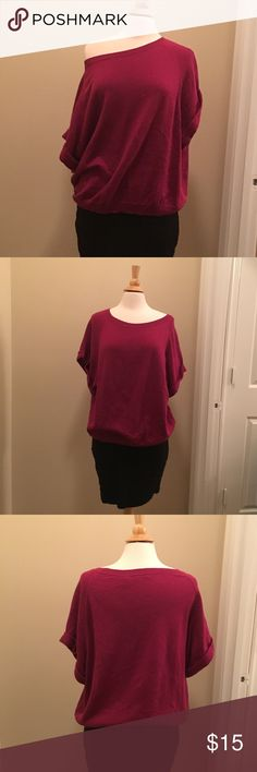 Moda International Slouchy Sweater Reddish-Pink slouchy Sweater by Moda International. Never worn. Size Medium but could also fit a large. Really cute with leggings or skinny jeans Moda International Sweaters Crew & Scoop Necks